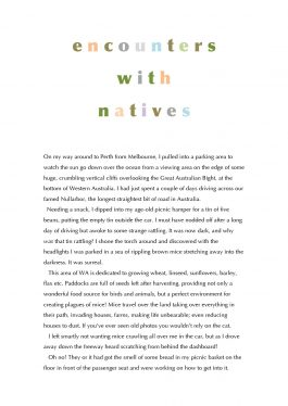 Encounters with natives