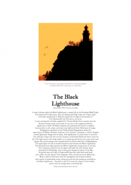The Black Lighthouse